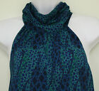 Tucker for Target Mosaic Halter Top Blue Green Blouse Shirt