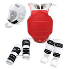 New Complete Taekwondo Sparring Gear set 7PC Deluxe Protectors Karate Guards set