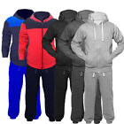 Boys Plain Hooded Tracksuit Kids Jogging Bottoms & Hoodie Ages 7-14 Yrs JUNIOR