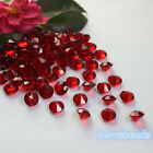 10mm 4CT Crimson Red Acrylic Diamond Confetti Wedding Party Decor Table Scatters