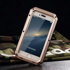 Military Shockproof Heavy Duty Tempered Glass Metal Cover Case for iPhone 6 6S
