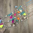 Turquoise Beads Multi Color Tassel Beads Charm Necklace Bohemian Long Necklace