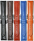 Hadley-Roma Leather WR Watch Band 18mm 19mm 20mm 22mm Black Brown Honey Blue Tan