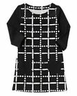 NWT Gymboree Girls Polar Pink  Dots and Dashes Black and White Dress Size 4 5 6