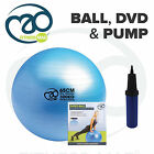 Fitness Mad Anti-burst Exercise Gym Yoga Core Swiss Ball, Pump & DVD Set Pack