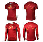 Superhero The Flash Costume Tee Sports Cycling Jersey T-Shirts Cosplay Tops