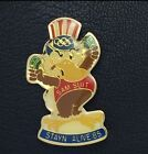 Olympic Pin Badge~1984 LA~Los Angeles~Mascot eagle~SAM SUIT~STAYN ALIVE 85