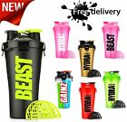 Dual Shaker Protein Blender Mixer Cup Hydra 2 Compartment 28 Oz Sport Bottle New