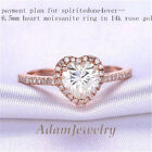 Payment plan for spiritedone4ever- ---6.5mm Heart Moissanite Ring 14K Rose Gold