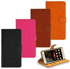 HTC Phone Genuine Leather Wallet Kickstand Bag Case Cover