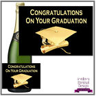 Congratulations On Your Graduation Sticker / Bottle Label Champagne Style