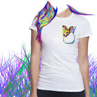 Ladies T-shirt Joey Kangaroo in Pocket Watercolor Art Sizes XS-2X