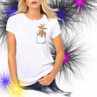 Ladies T-shirt Giraffe in Pocket Watercolor Art Sizes XS-2X