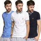 Mens Polo Shirt by Brave Soul 'Glover' Short Sleeved Fit T Shirt Top New Sale