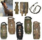 TACTICAL DOG VEST HARNESS K9 MOLLE BAG HUNTING TRAINING MILITARY LEASH PATCH