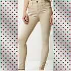 ex-River Island Creme Molly Jeggings