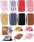 Strap Bling Embossing Dream Catcher Leather Wallet Card Holder Case Cover YB