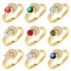 MODOU Attractive Gold Filled Round Sapphire Women Rings Available Size O/Q/R/T
