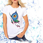 Ladies T-shirt Dragon Eye Watercolor Art Sizes XS-2X