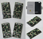 * A BATHING APE ABC iPhone 6/6S or 6 Plus WALLET TYPE Green Japan New