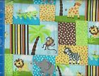 Safari Toss Patches Fabric Home Decor Crafting Quilting