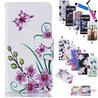 New PU Leather Flip Case Wallet Card Holder Cover For LG Optimus Nokia Motorola