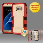 Red Frame Transparent Black TUFF Phone Cover Case for Samsung Galaxy S7