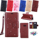 Slim Pattern Flip Leather Card Wallet Case Cover Skins For Samsung Galaxy Phone