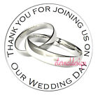 Wedding Day Thank You Stickers Seals....34 Designs in 4 Sizes
