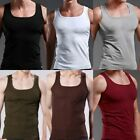 Fad Men's Plain T-Shirts Tank Top Muscle Cami Sleeveless Tee