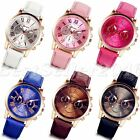 Women Fashion Leather Band Watches Stainless Steel Analog Quartz Wrist Watch New