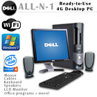 DELL GX280 DESKTOP PC  WIN 7 4GB INTEL P4 160GB-500GB 2.80 GHz DVDRW W/ MONITOR
