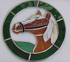 HORSE OR CAT STAINED COLOURED GLASS SUNCATCHER WINDOW HANGING PICTURE LARGE