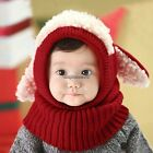 New Crochet Baby Toddler Girl Boy Bear Toy Puppy Winter Hat Cap Ears Protect CaF