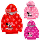 Lovely Cartoon Minnie Mickey Bebé Niña Infantil Sudadera Abrigo