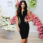 vestidos de xv 2013 - Women Smart Bodycon Sleeveless Party Cocktail Pencil Dress Black Vestido