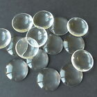 25 & 50 CLEAR ROUND CABOCHON GLASS DOME SEALS 16mm