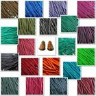 TZ Branded Round Wax Cotton Thin Shoe Laces 2.5mm 4 lengths to chose from