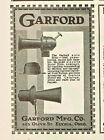 GARFORD AUTO HORNS, PUSH BUTTON OR ELECTRIC. LOUD, PENETRATING, ELYRIA  1919 AD