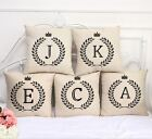 Olive Branch Letter Bed Car Throw Sofa Decor Waist Pillow Case Cushion Cover New