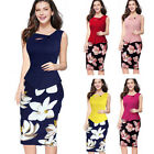 Women's Plus Size Bodycon Party Cocktail Office Work Pencil Dress,Sleeveless