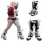 DC Suicide Squad Harley Quinn Cosplay Shoes Highheels Boots Halloween Costume
