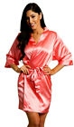 32.99 - Coral Satin Robe-Satin Bridal Party Robes-Factory Seconds-Save! $32.99 DEAL
