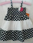 black girls pretty - Penelope Mack Dress Girls Pretty Full Tiered Black White Polka Dot Lined Flower