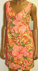 Tracy Feith Dress Hibiscus Floral Orange Coral Target NWTS Size 1