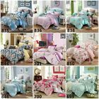 New Quilt Duvet Doona Cover Set  Floral King Queen Single Bed Cotton Pillowcases