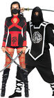 Adults Men Womens Shadow Ninja Warrior Fancy Dress Samurai Halloween Costume