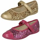 Clarks Girls Dance Idol Sparkly Synthetic Glitter Mary Jane Strap Party Shoes