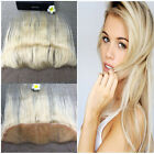 Blonde(#613) Virgin Remy Human Hair Lace Frontal Closure 13*4 Bleach Knot 14""