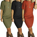 NEW Women Short Sleeve Bodycon Evening Party Cocktail Mini Dress Casual Dress